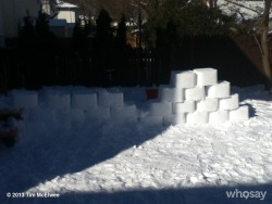 Our weekend projects: a snow slide for Peyton and a snow block wall for snow ball fights.View more Tim McElwee on WhoSay