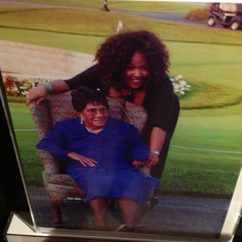 Me beloved grandmother at 100 and Kym Whitley