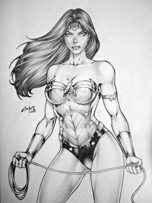 motleyjack:  WONDER WOMAN by ~carlosbragaART80
