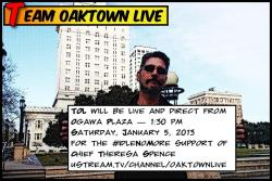 "oaktownlive:  TOL Returns to the streets, #LiveAndDirect, from the Oakland, CA, Cirlce Dance flashmob in support of Idle No More, and Chief Theresa Spence's hunger strike, and her demand for a meeting w/ Canadian PM Stephen Harper. The Canadian Parliament is ramming through a law that will severely alter the laws regarding development of ""Indian Land"", removing many protections and rights the First Nations peoples have had up until now. This is what people are protesting. -What is Idle No More? -Why does Chief Theresa Spence's  hunger strike matter? -""Hunger strike by Chief Theresa Spence against new government legislation and long term denial of indigenous rights sparks nation wide movement"""