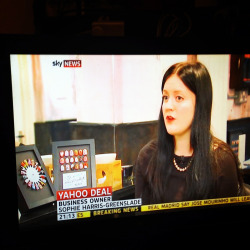 OMG I'm on the TV! The Illustrated Nail talking on Sky News about the Yahoo/Tumblr take over…