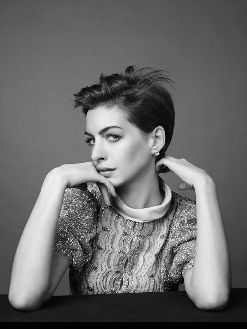 suicideblonde:  Anne Hathaway photographed by David Slijper for Harper's Bazaar UK, February 2013