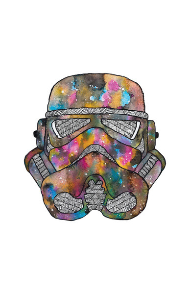 Stormtrooper Galaxy by Happy jack. Can be found at Society6.com HERE