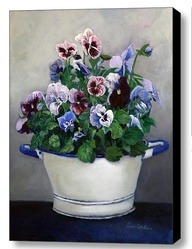 Pansies Painting  Floral Canvas Print by EnzieShahmiriDesigns via [Enzie Shahmiri Designs]