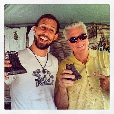 Huell Howser Rip with Tiki tOny, he bought my volcano mug