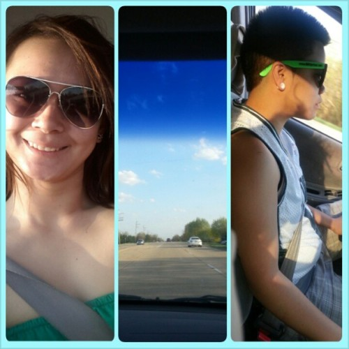 Sunshine fun time:) #sunny #babe #driving #gorgeous #soniceout #shades #wish it was like this #everyday @elayguerra