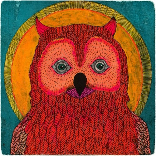 """Owl no. 1"" by Lisa Congdon."