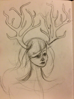 painting ideas/sketches #3 most likely the horns I'll use