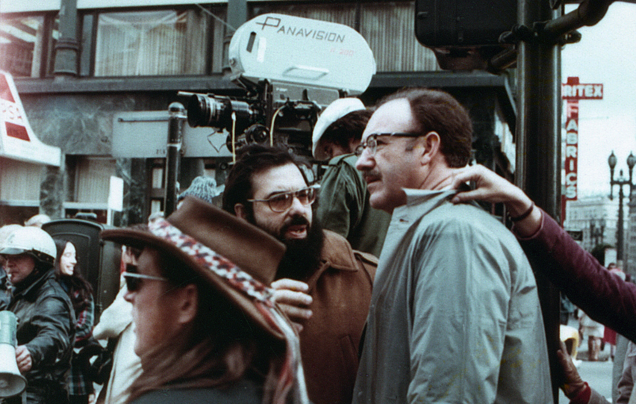 Gene Hackman & Francis Ford Coppola on the set of The Conversation (1974)