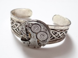 Steampunk celtic braceletby *Hiddendemon-666
