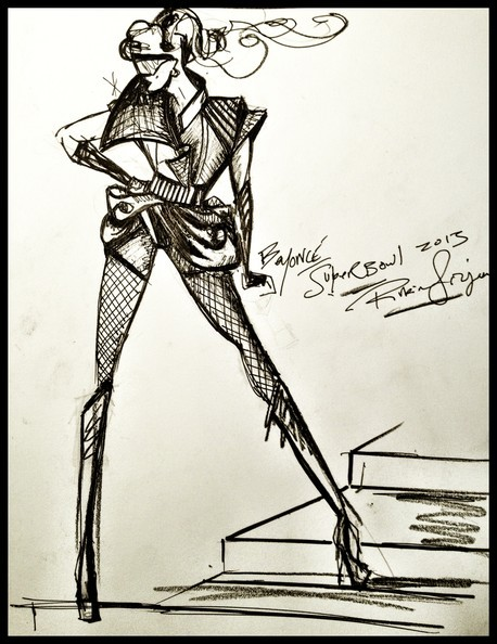 Beyonce's sketches came to life tonight Good job, Rubin Singer.