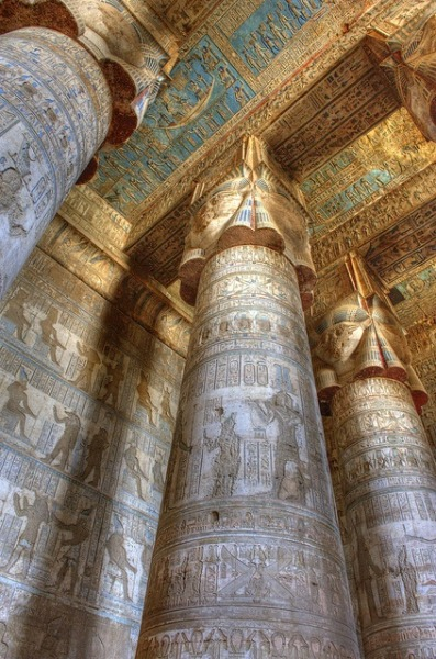 yeaverily:   Temple of Hathor, Dendara, Egypt
