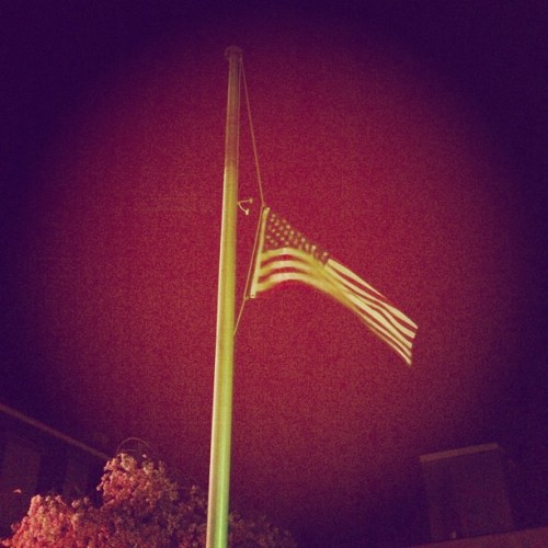 #usa #flag #america #halfstaff #tragedy #boston (at Downtown Summit)
