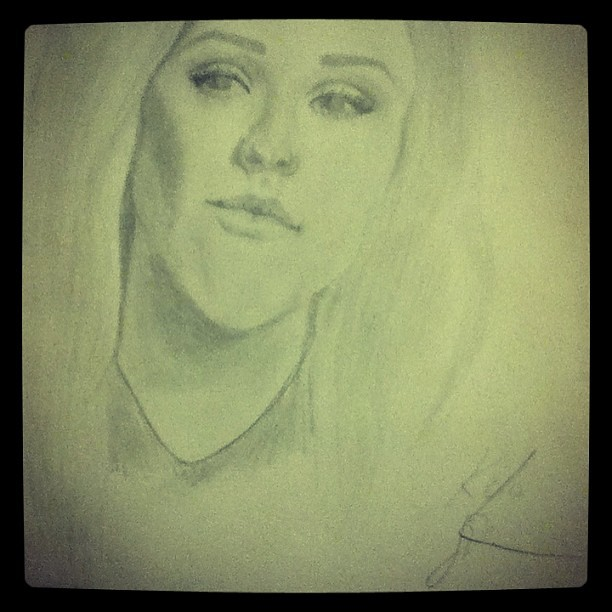 Crap picture of my Ellie Goulding portrait