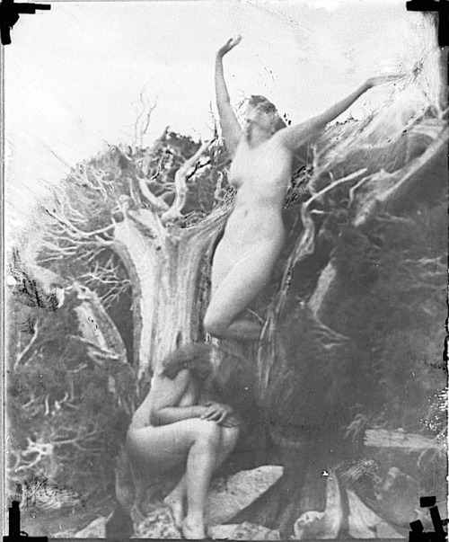 realityayslum:  Anne Brigman - Travail, 1912 / reworked from earlier negative c1940. … via the George Eastman House