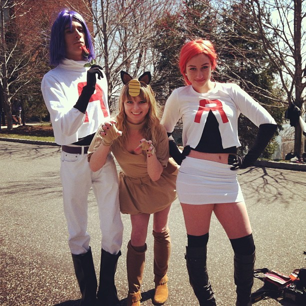 trinketsays:  Ohmyglobs TEAM ROCKET #pokemon #teamrocket #cosplay