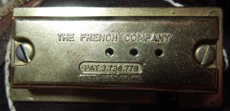 Antique French���ȥ�٥顼�����Хå���The French Company  Presto lock company inc