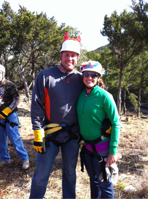 We went zip lining today for the first time ever across Texas Hill Country.   Scratch that off the bucket list.