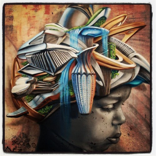 #streetart #graffiti #girl #colors #head #sad #beautiful