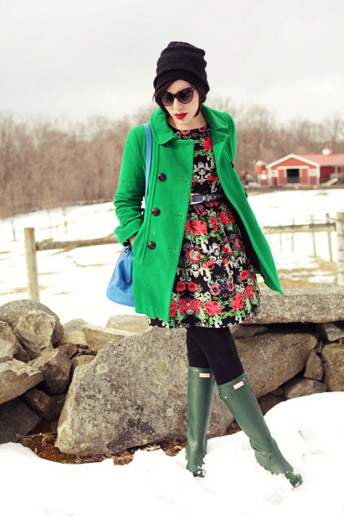 modcloth:  How cute is the little floral number Keiko Lynn rocks here? As the seasons change, this is just the kind of transitional look I love. Plus, she topped it off with accents of my all time favorite color, green! Just to die for. <3 Kelly, ModStylist Need styling suggestions, trend tips, or dress details? Ask a ModStylist and your question might be featured on our feed!