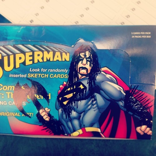 LOL GOT SOME #SUPERMAN CARDS IN (at Newbury Comics Emerald Square Mall)
