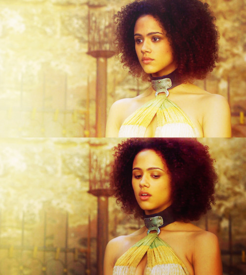Missandei and her brothers had been taken from their home […] and sold into slavery in Astapor. Young as she was, Missandei had shown such a gift for tongues that the Good Masters had made a scribe of her. Mossador and Marselen had not been so fortunate. They had been gelded and made into Unsullied.
