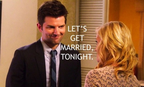 nbcparksandrec:  How are they so cute? uproxx: Chicken Soup And Waffles For The Soul: 12 Of Ben And Leslie's Sweetest Scenes