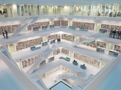 travelthisworld:  Stuttgart Library - Stuttgart, Germany | by from_the_sky