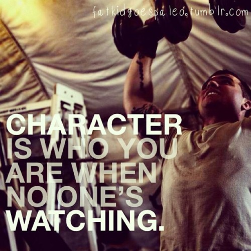 Character is who you are when no one's watching. #fatkidgoespaleo #paleo #paleodiet #paleohunt #paleolifestyle #primal #eatclean #cleaneating #inspiration #motivation #igfitness #instagood #instahealth #workout #instafood #instadaily #instagramfitness #nutritionable #hashtagpaleo