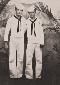 """ Navy Buddies ""  …  Studio Portrait [Circa 1950's]"