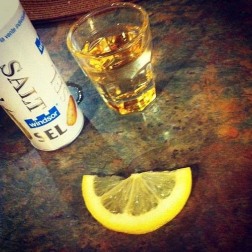 Tequila shots done right #tequila #shots #lastnight #messy #buzz #drink #drunk #lemon #salt