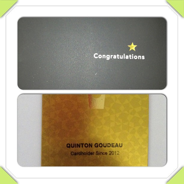 Got my gold card! #GoldStatusBitch #Starbucks #GoldCard #Yay #Finally #SoExcited