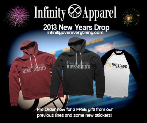 2013 New Years Drop! Get em now, supplies VERY limited. www.infinityovereverything.com/shop