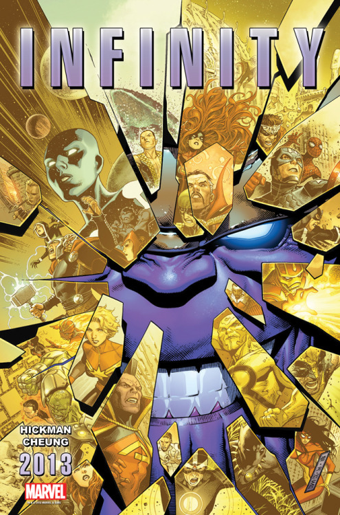 "Remember Thanos from the end of Marvel's ""Avengers?"" Find out what he's plotting in Marvel's epic cosmic event, ""Infinity"" from writer Jonathan Hickman and artist Jim Cheung, launching this Free Comic Book Day!"