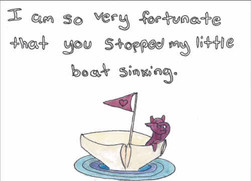 a-little-boat-full-of-water:  So Carrie used my Things I'll Never Say card…  Couldn't be any happier :)