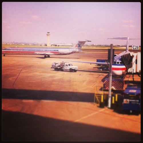 Another city, another airport, another airline. #americanairlines (at Dallas/Fort Worth International Airport (DFW))