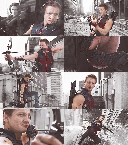 the avengers and their colors; hawkeye