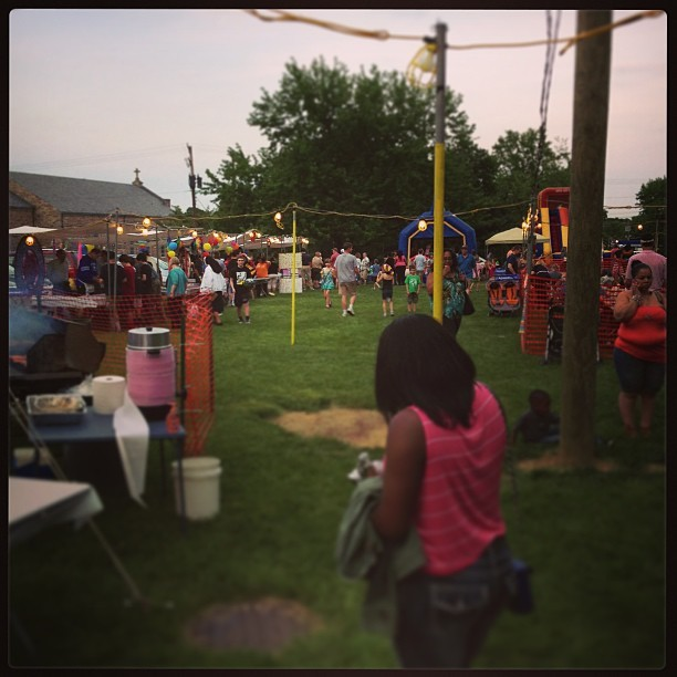 Hanging out at the fair. (at Saint Pius X School)