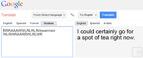 awkward-elevator:  Google Translate: Star Wars