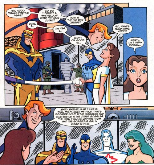 "Mary meets the rest of the ""Formerly Known as the Justice League"" crew in Justice League Unlimited #20."