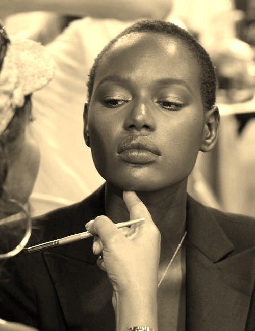 lamusenoire:  Backstage Beauty: Ajak Deng