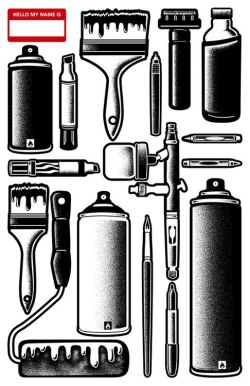califaslivinn:  grafflicks:  TOOLS of the TRADE / www.grafflicks.com  Hello, my name is SLICK!