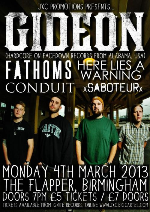 GET TO THIS! MY BAND SABOTEUR HAS OUR FIRST SHOW! XVX