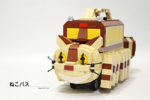 "A LEGO Catbus That Works, Inspired by the Film 'My Neighbor Totoro' Justin Page, laughingsquid.com Japanese LEGO builder Tomoyuki Wakata (aka ""LEGOROBO"") has created a functioning custom LEGO sculpture of the animated character Catbus from Hayao Miyazaki's classic film, My Neighbor Totoro. You can view the video below to see Catbus in…   Amazing!!"