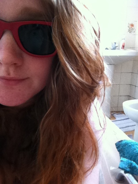 Sunglasses in the bath, the cure for any ailment.