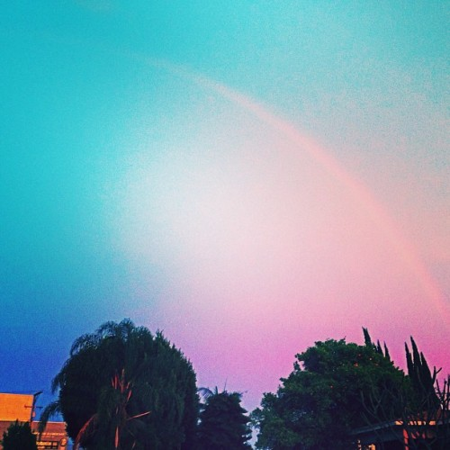 Crazy sky in Los Angeles today! #losangeles #skywatcher #crazysky #rainbow #ilovela
