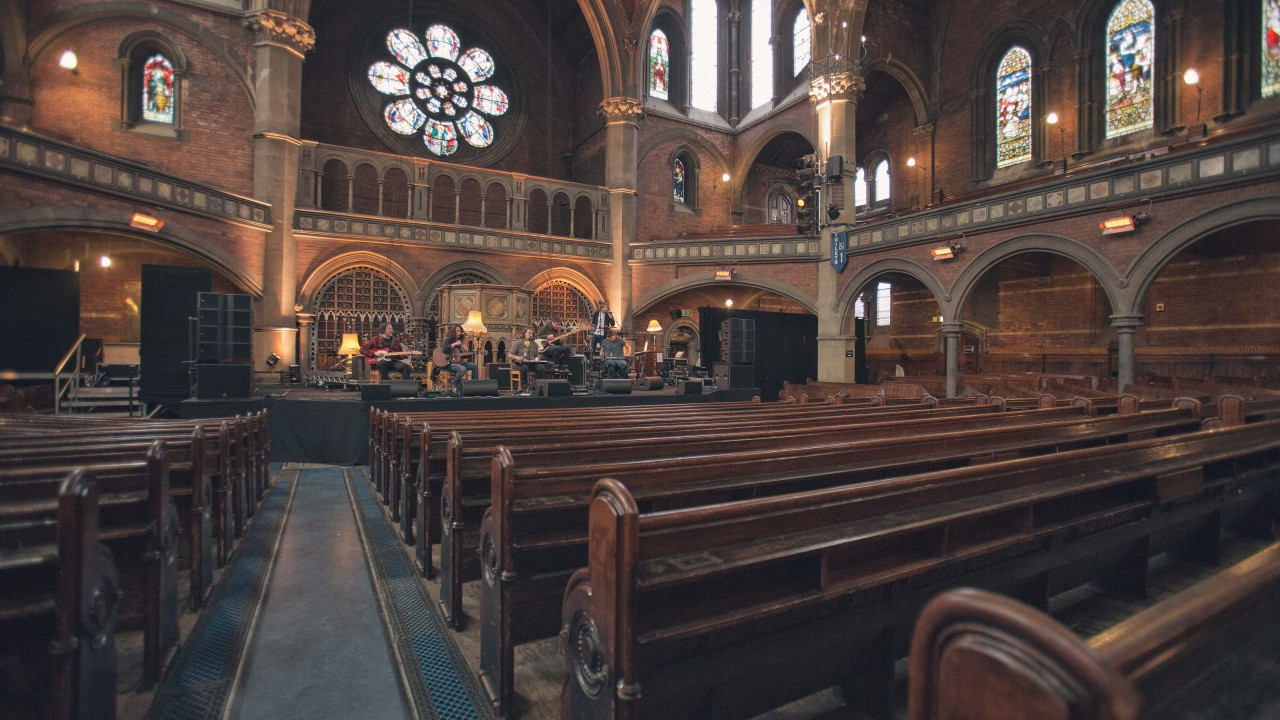 Deaf Havana Sound Check at Union Chapel, London - Thurs 4th April 2013