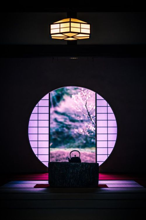 "lifeisverybeautiful: "" Round Window of Meigetsu-in Temple, Kamakura, Japan by Ichiro Hiura on 500px """