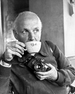 thursdayfilecoffee:  Coffee moment - Henri Cartier-Bresson, n.d. -Credit Ara Güler - 074