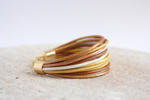 tribomo tribomo shop tribomo jewelry boho bracelet leather wrap bracelet multi strand bracelet gold leather bracelet metallic leather bohemian boho chic